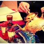 Maghrebi stly mint tea served at Sadia's North African Tea Party